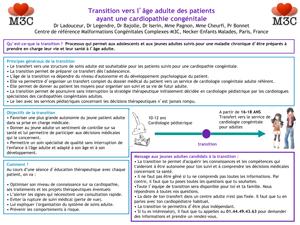 Transition pour les adolescents avec une cardiopathie congénitale