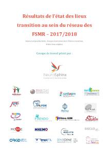 Résultats de l'état des lieux transition au sein du réseau des FSMR – 2017/2018